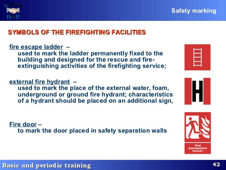 fire escape ladder   –  used to mark the ladder permanent l y fixed to the building and designed for the rescue a n d fire...