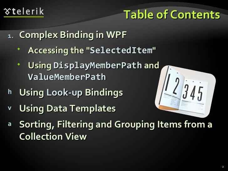 Complex Data Binding