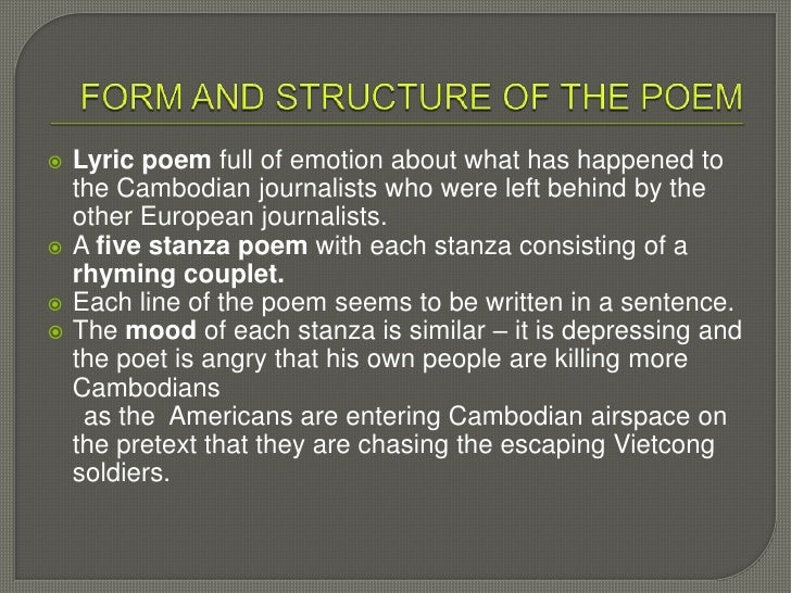 cambodia by james fenton In 1970, after the overthrow of prince sihanouk and the american invasion,  cambodia became fully involved in the war in indochina the north.