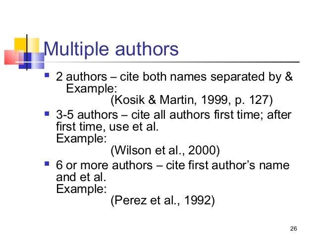 Et al citing mla in essay