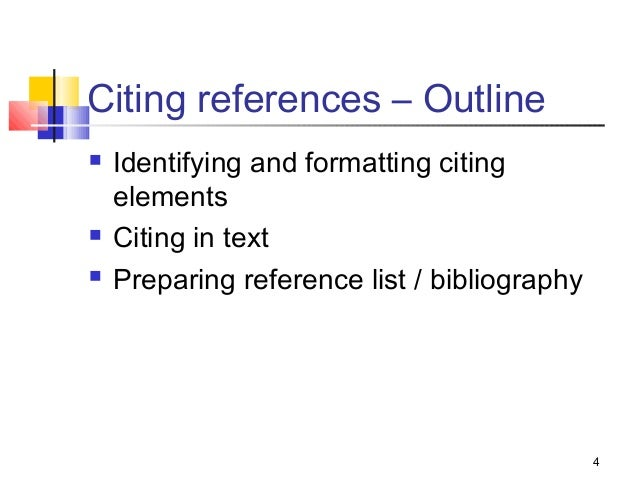Referencing sources for term papers