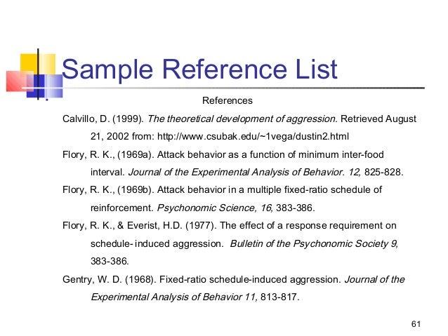 asa reference page
