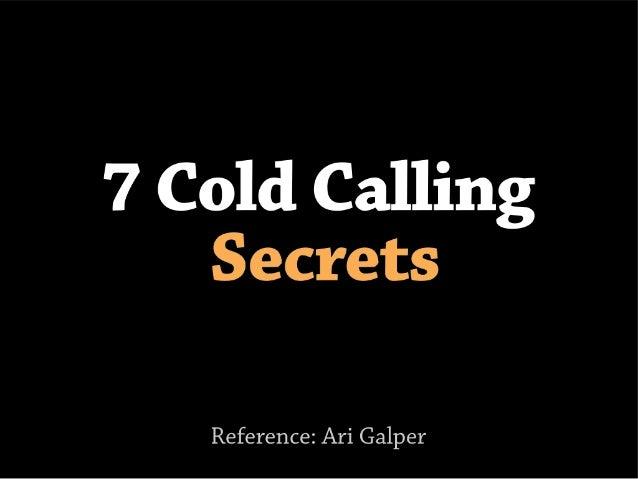 7 cold calling secrets