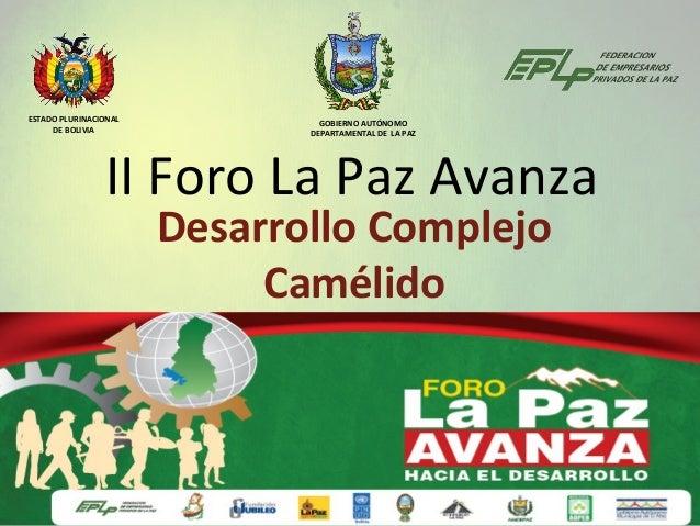 ESTADO PLURINACIONAL            GOBIERNO AUTÓNOMO     DE BOLIVIA               DEPARTAMENTAL DE LA PAZ                II F...