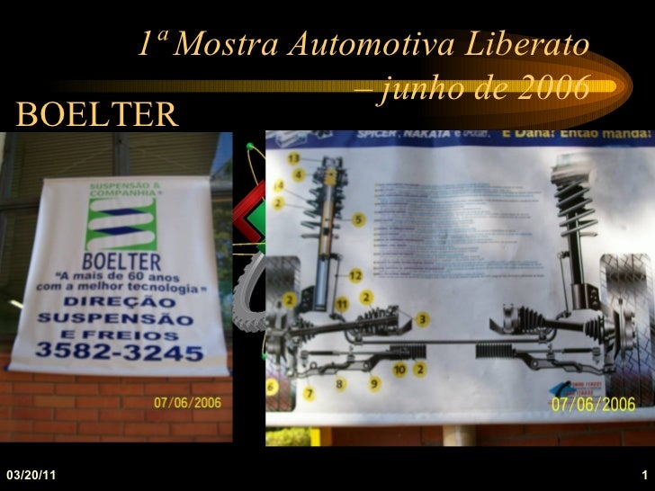 1ª Mostra Automotiva Liberato                    – junho de 2006 BOELTER03/20/11                              1