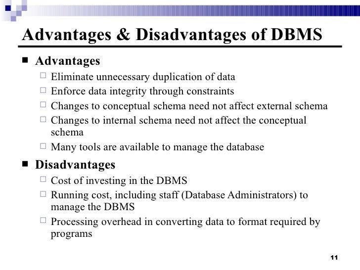 Disadvantages Of Database Management System You Should