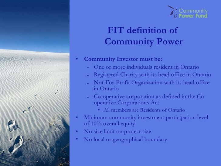 Community Power Finance: Equity Strategy