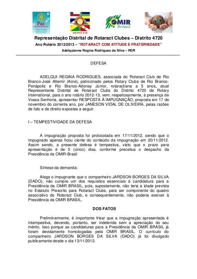 """Representação Distrital de Rotaract Clubes – Distrito 4720   Ano Rotário 2012/2013 – """"ROTARACT COM ATITUDE E FRATERNIDADE""""..."""