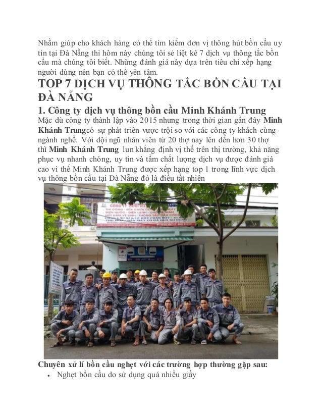 Nhằm giúp cho khách hàng có thể tìm kiếm đơn vị thông hút bồn cầu uy tín tại Đà Nẵng thì hôm này chúng tôi sẻ liệt kê 7 dị...