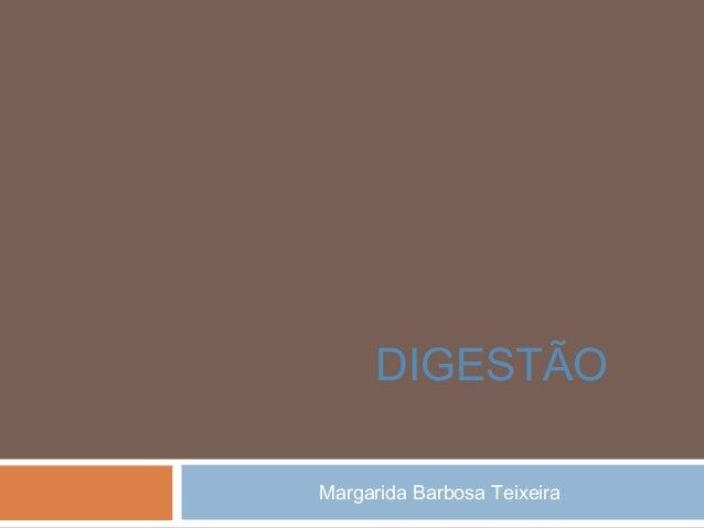 Margarida Barbosa Teixeira DIGESTÃO