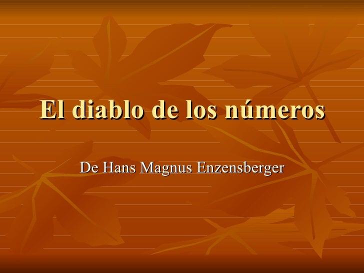 El diablo de los números De Hans Magnus Enzensberger