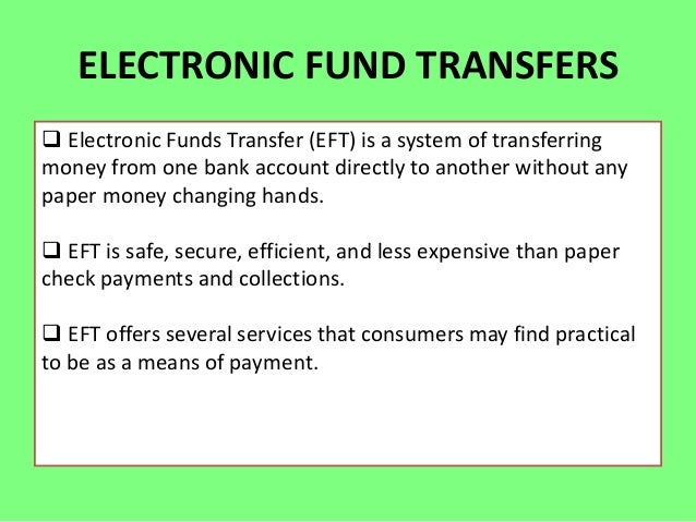 electronic fund transfers Transfer funds with ease with bank of america online banking learn more about electronic funds transfer options with faqs.