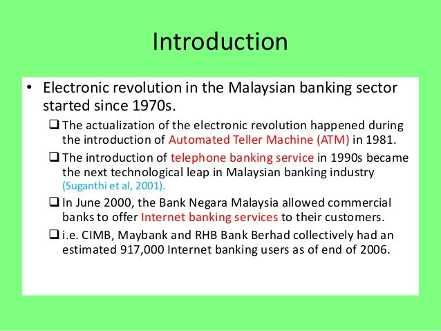 Chapter 7 Electronic Banking