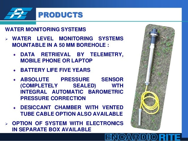 Water Level Monitoring System : Encardio rite online water quantity and quality