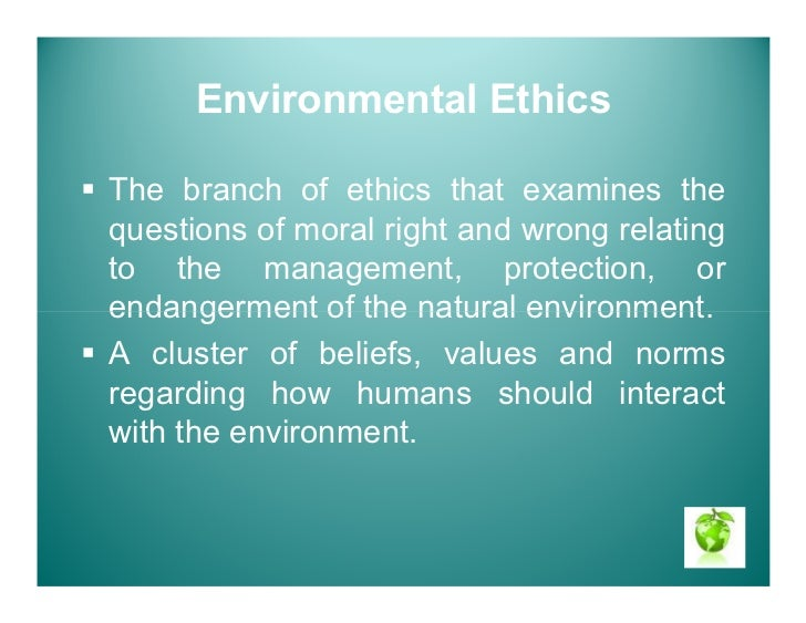 environmental ethics Environmental ethics and their implications for public policy formulation in  relation to the  enumerate key environmental policy instruments and construct.