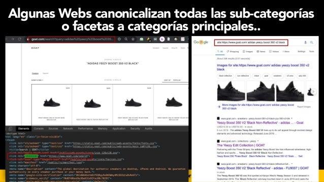 #seoecommerce en #CongresoDSM21 por @aleyda de @orainti Algunas Webs canonicalizan todas las sub-categorías o facetas a ca...
