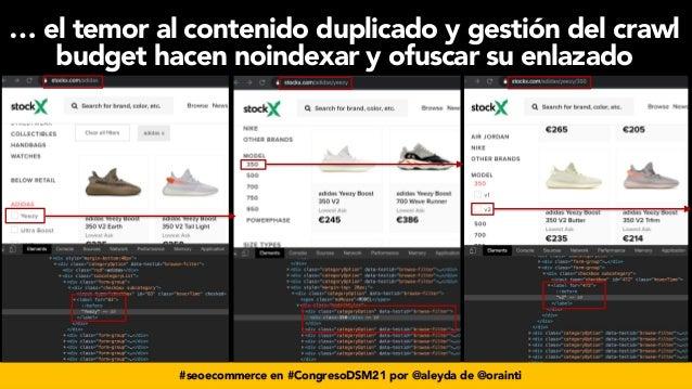 #seoecommerce en #CongresoDSM21 por @aleyda de @orainti … el temor al contenido duplicado y gestión del crawl budget hacen...