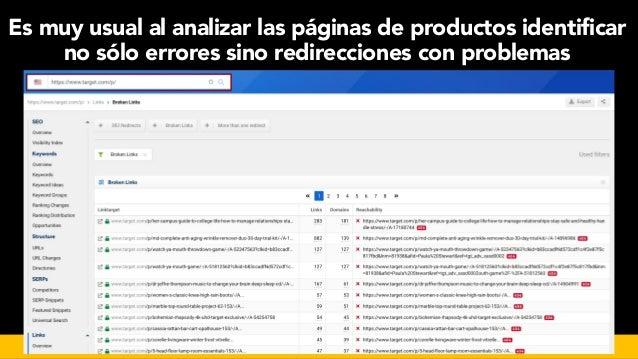 #seoecommerce en #CongresoDSM21 por @aleyda de @orainti Es muy usual al analizar las páginas de productos identificar no s...