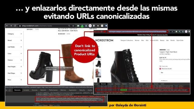 #seoecommerce en #CongresoDSM21 por @aleyda de @orainti Don't link to canonicalized Product URLs … y enlazarlos directamen...