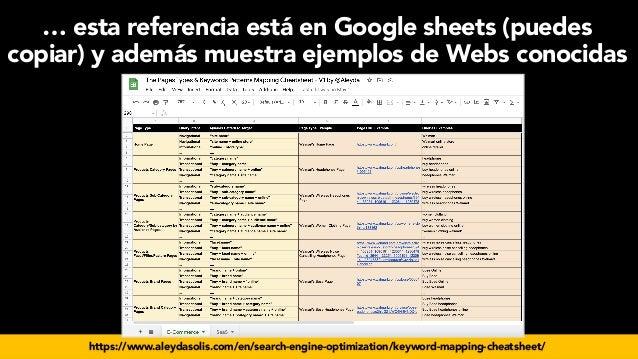 #seoecommerce en #CongresoDSM21 por @aleyda de @orainti … esta referencia está en Google sheets (puedes copiar) y además m...