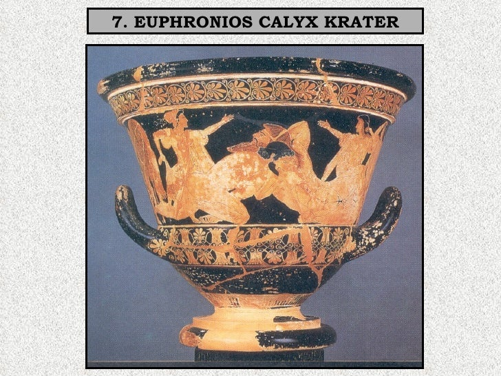 euphronios krater Fragments of a symposion by euphronios the fragmentary remains  of a large calyx krater by euphronios have recently been placed on loan in the.