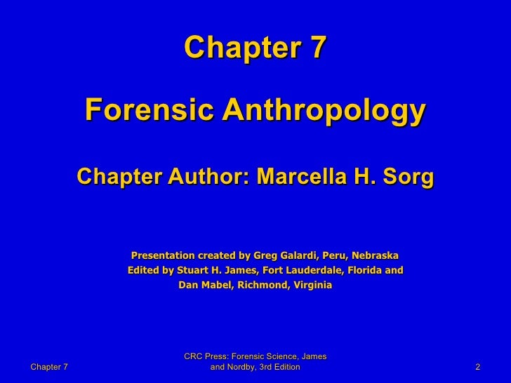 theory and methods of forensic anthropology Forensic anthropology - identify skeletal fragments and work on mock homicide investigations with a forensic anthropologist culture theory laboratory methods, field techniques and theory in archaeology.