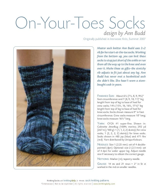 7 Free Sock Knitting Patterns