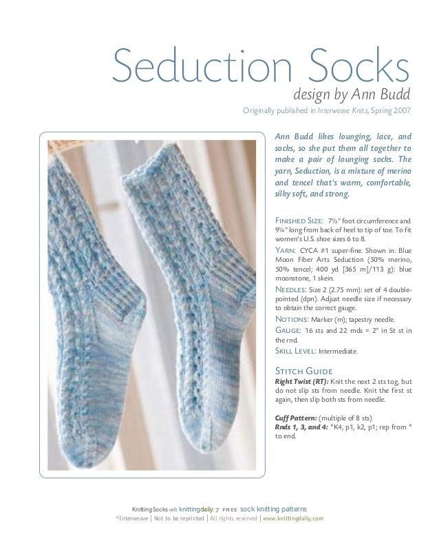 f7c08d717 presented by knittingdaily 6  9. Seduction Socks ...