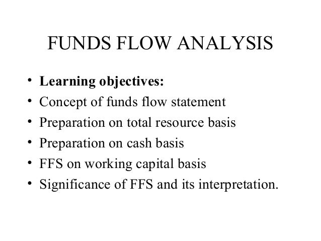FUNDS FLOW ANALYSIS•   Learning objectives:•   Concept of funds flow statement•   Preparation on total resource basis•   P...