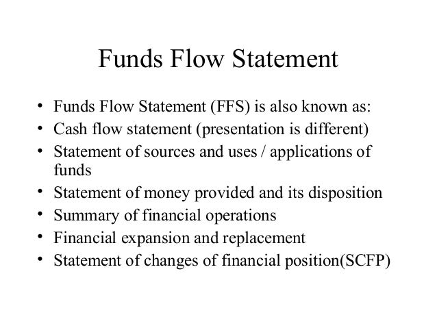 7. funds flow analysis Slide 3