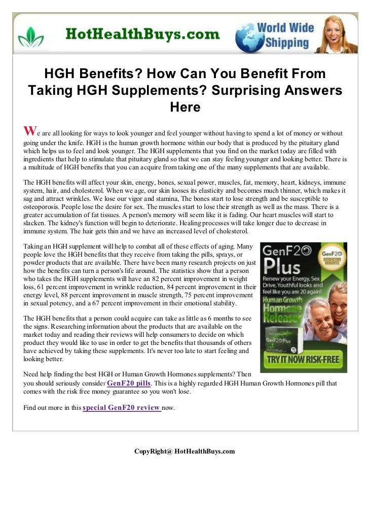 HGH Benefits? How Can You Benefit From Taking HGH Supplements? Surprising Answers                   HereWe are all looking...