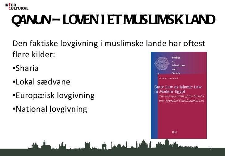 QANUN  – LOVEN I ET MUSLIMSK LAND <ul><li>Den faktiske lovgivning i muslimske lande har oftest flere kilder: </li></ul><ul...