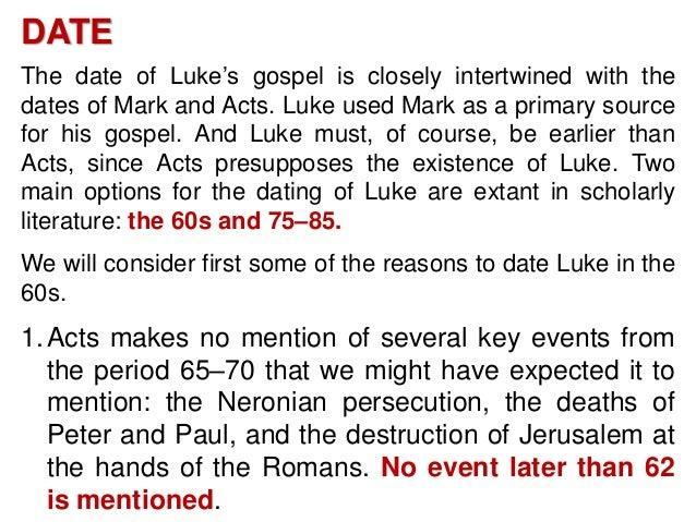 Dating of the gospel of mark