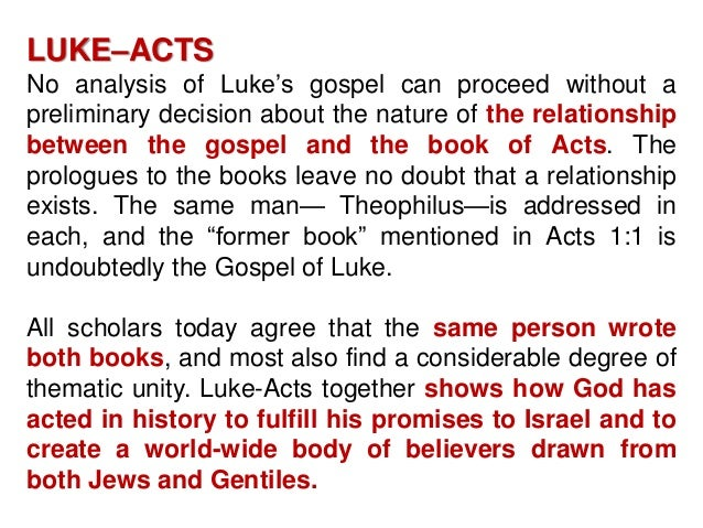 thematic analysis of the book of acts Acts: introduction, outline, and argument  f theme the theme of acts is intrinsically bound up with  the book of acts then concludes with paul meeting his.