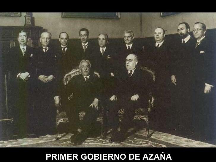 PRIMER GOBIERNO DE AZAÑA