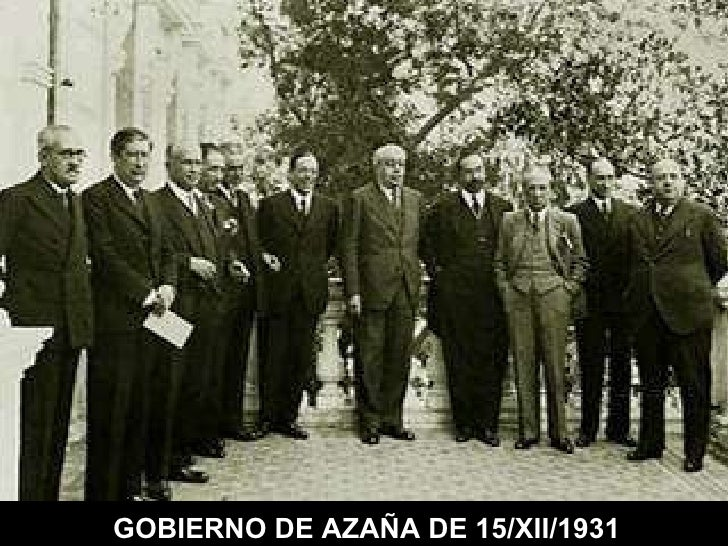 GOBIERNO DE AZAÑA DE 15/XII/1931