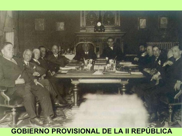 GOBIERNO PROVISIONAL DE LA II REPÚBLICA