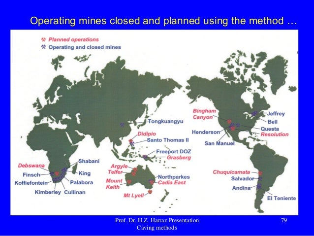 the block cave mining method The fact that the reserves on hand are running out, the depth of surface and  underground mines for further exploitation are increasing the block caving  method.