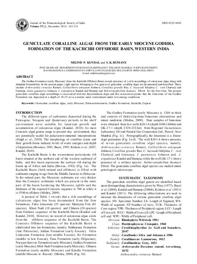 Journal of the Palaeontological Society of India                                                                       ISS...