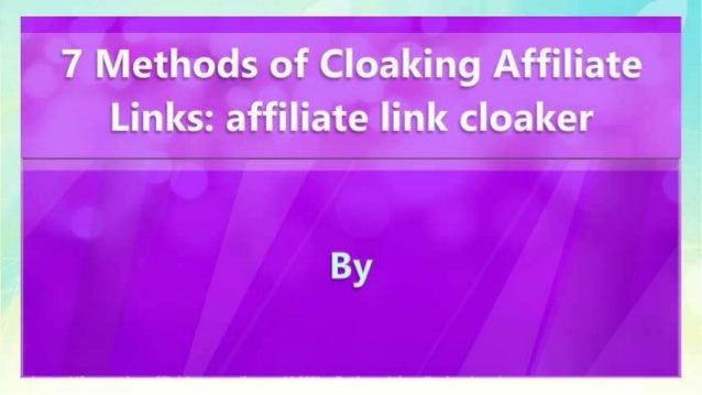 7 Methods of Cloaking Affiliate Links: affiliate link cloaker Slide 2