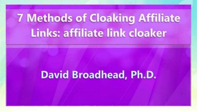 7 Methods of Cloaking Affiliate Links: affiliate link cloaker Slide 3