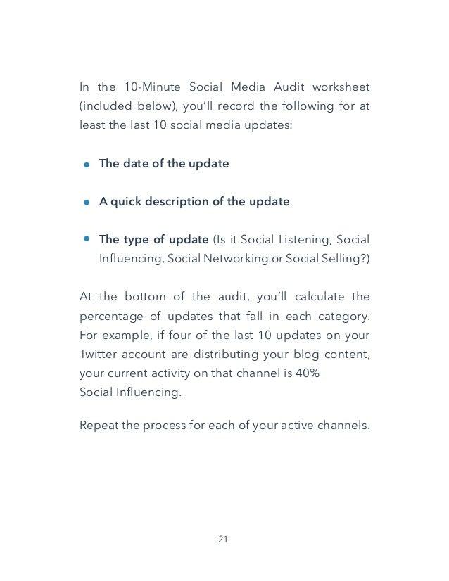 7 minute social media marketing audit
