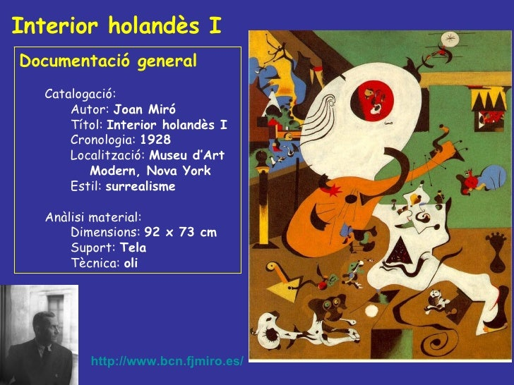 Interior holandès I <ul><li>Documentació general </li></ul><ul><ul><li>Catalogació: </li></ul></ul><ul><ul><ul><li>Autor: ...