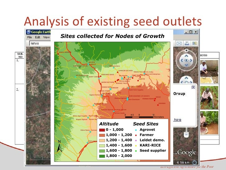 Analysis of existing seed outlets