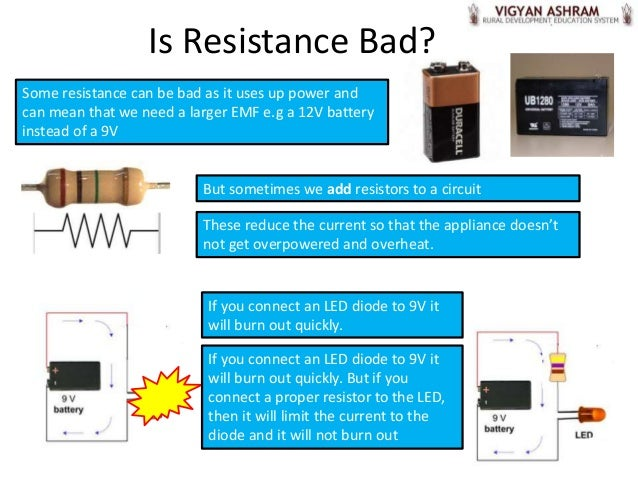 If The Resistor Slows The Current By Reducing The Emf By 12v Then The