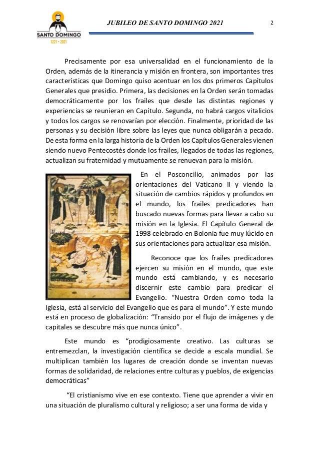 Organización de la Orden (Tras los pasos de Santo Domingo de Guzmán Nº 7) Slide 2