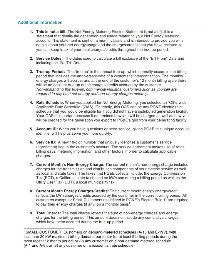 7 Pge Understanding Your Bill Commercial W Solar