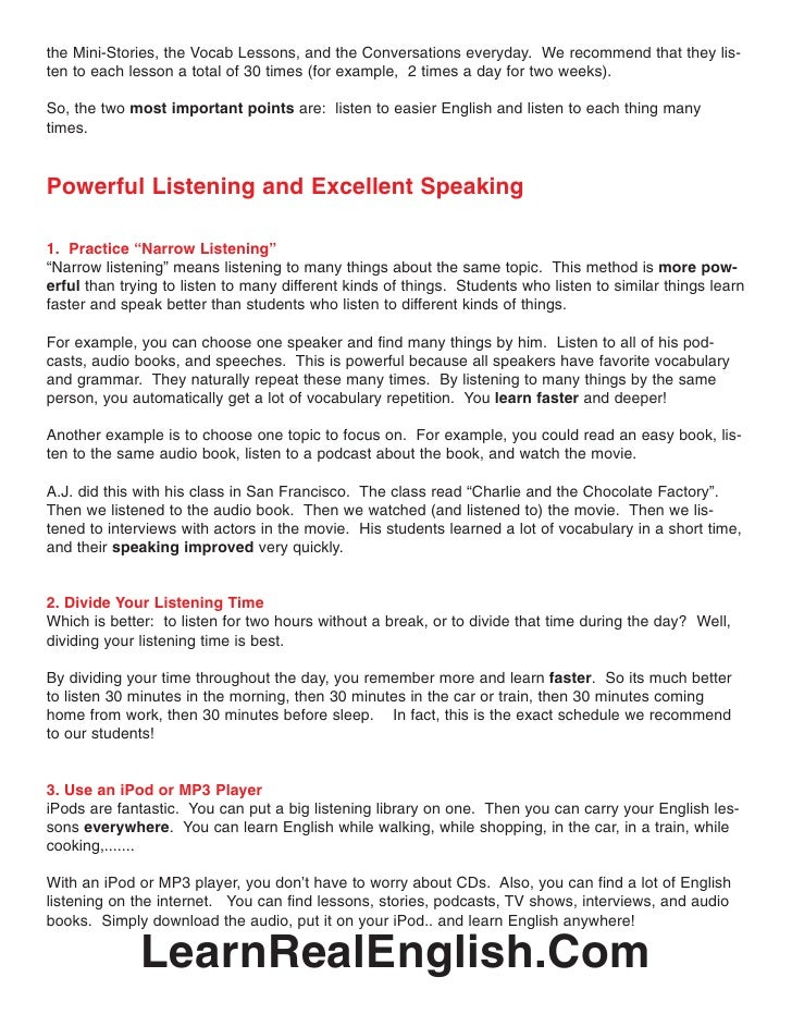 7 Point Of Listening