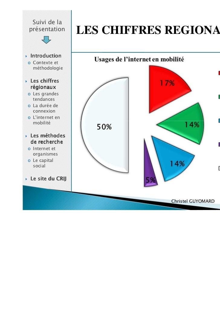 Suivi de laprésentation       LES CHIFFRES REGIONAUX Introductiono Contexte et  méthodologie Les chiffres régionauxo Les g...