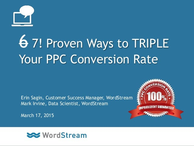7 Proven Ways to TRIPLE Your PPC Conversion Rate (Webinar)
